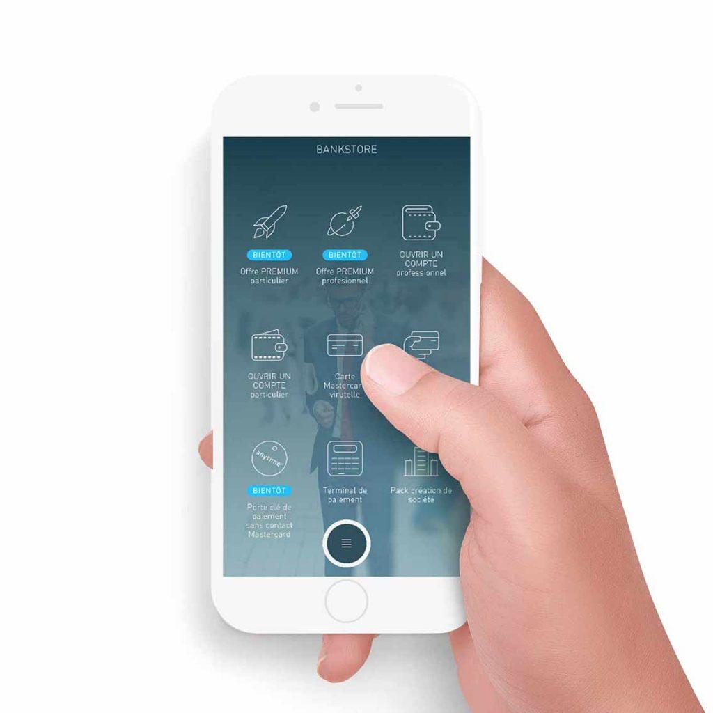 application mobile compte bancaire